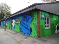 Freundlicher Empfang - Graffiti im Eingangsbereich