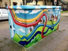 "Netzstation aus der Graffiti Serie ""Strom"""