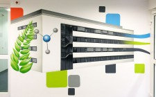 Graffiti Darstellung des Max-Planck-Institut Mülheim