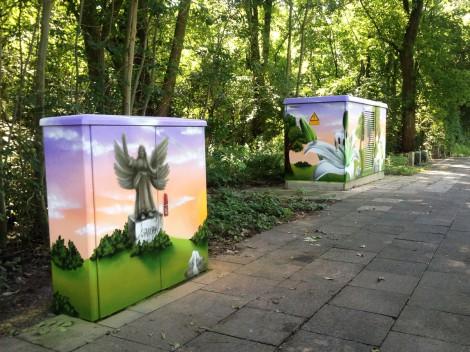 Graffiti Auftrag am Friedhof