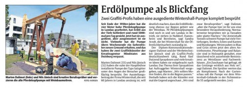 Artikel in der Rheinpfalz vom 27.4.2015