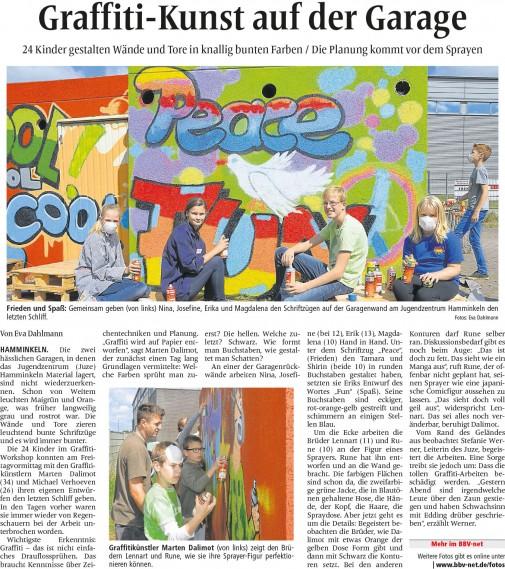 Presseartikel BBV vom 1.August 2015