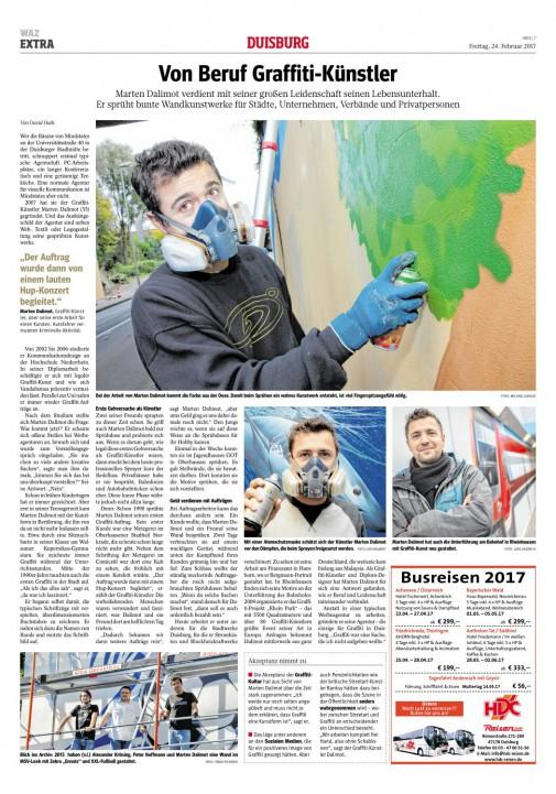 Porträt über unsere Arbeit in der WAZ vom 24.2.2017